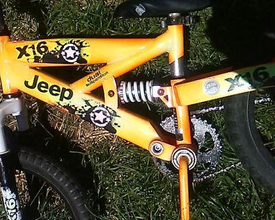 Kids JEEP bike - suspension frame - for ages 4