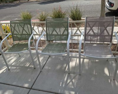 3pc patio furniture chairs set