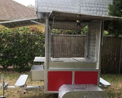 Used 2020 Custom Mobile Food Vending Cart with Attached Seating for sale in Florida!