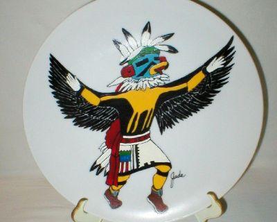 "Eagle Kachina ""Kwahu"" Handpainted Plate by Jada '80 - Personalized"