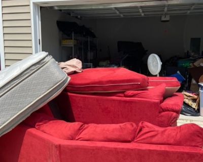 Treadmill and furniture for sale SUNDAY