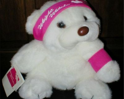 """Vintage 1980's Promotional Teddy Bear """"Weight Watchers"""" - NEW"""