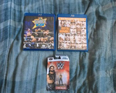 Lot Of WWE Blu-rays And Figure