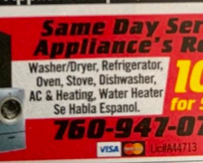 SAME DAY SERVICE APPLIANCE REPAIR ALL MAKES AND MODELS