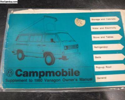 Camper Manual Campmobile Vanagon Supplement