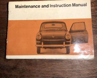 1967 Type III Owners Manual