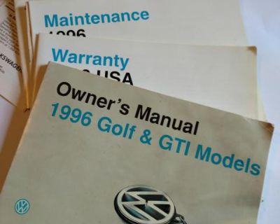 Owners manual GOLF / GTI 1996