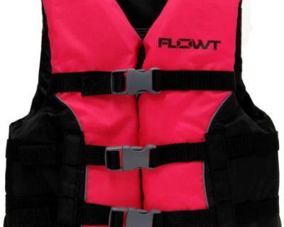 Omega Flowt Multi Sport Life Jacket Vest Pfd Type Iii Youth 50 - 90 Pounds
