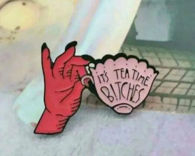 It's Tea Time pin