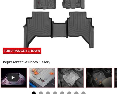 Weathertech floormats front and rear