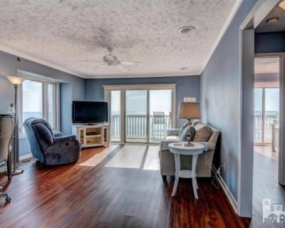 Oceanfront Condo with New Everything Fantastic Views Wifi, TV included - Kure Beach