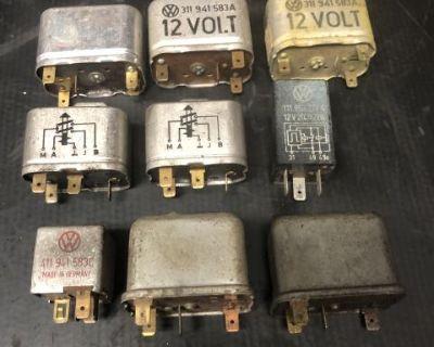 Lot of 9 Headlight/Turn Signal Relays Used 12 Volt