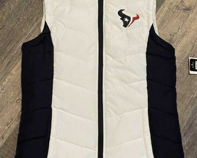 Texans women s puffer vest new with tags small
