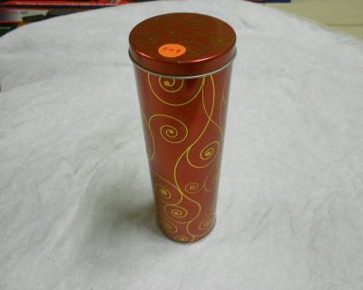 Tin Can, 10 Inches Tall, 3 Inch Diameter