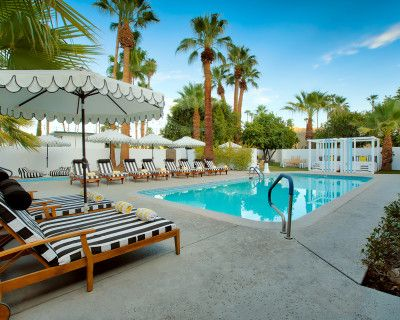 Palm Springs Dive Hotel, 1960's Boho-Chic French Riviera, Palm Springs, CA