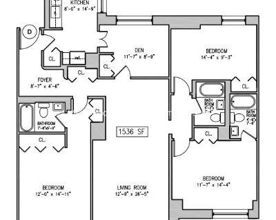 UPPER WEST SIDE - 4 Bedrooms & 3 Bathroms, Doorman, Elevator, Laundry, Pool, Sauna, Gym,