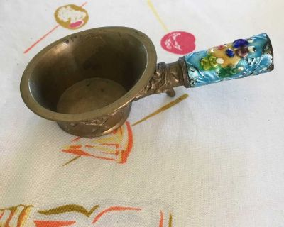 Chinese Brass & Cloisonn Rice Scoop