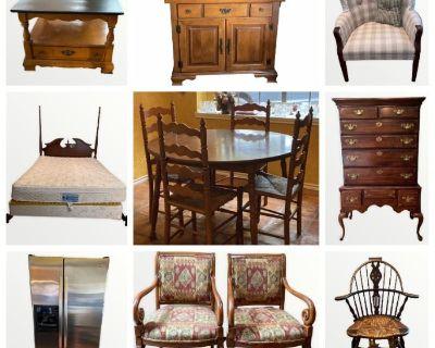 North Houston Estate Liquidation: Wonderful Wooden Furniture, Vintage Decor & MORE!