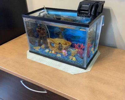 5 Gallon Fish Tank with lid and filter