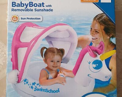 Baby Boat Inflatable Float with Sunshade ( NOTE CROSSPOSTED)