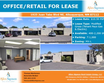 Office/ Retail Space Fronting Juan Tabo