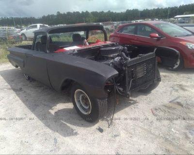 Salvage Black 1960 Chevrolet El Camino