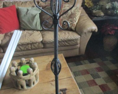 Pier one wrought iron floor candle holder
