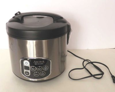 10-Cup Digital Rice Cooker Steamer Aroma Stainless Steel