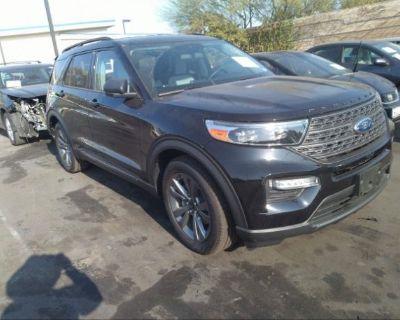 Salvage Black 2021 Ford Explorer