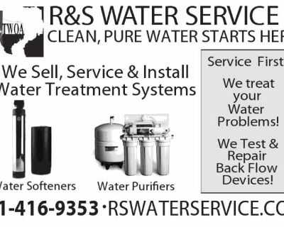 Well Water Treatment Systems. Water Softener. R S Water Svc 281-416-9353
