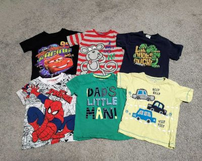 EUC 3/4T short sleeve t-shirts. Top middle and bottom 3 are from the UK. Pet free smoke free home
