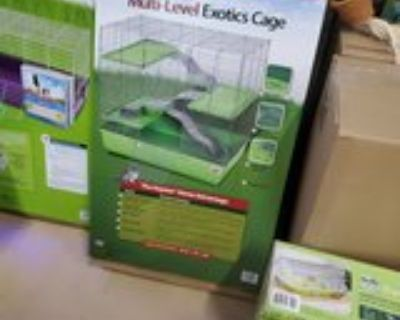 rat cage with two rats