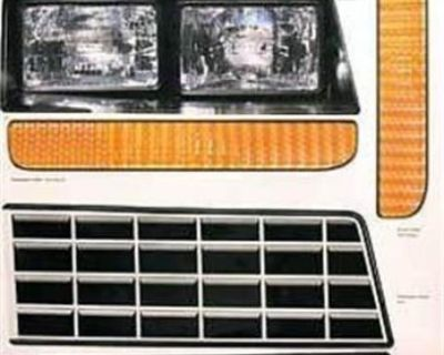 Headlight Decal Kit For 1983 - 1988 Monte Carlo Nose Piece Head Light Decals Ump