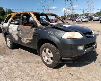 Salvage Gray 2003 Acura Mdx