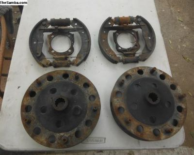 vw sand rail backing plates with drums