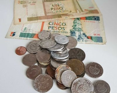 Bank of Cuba Cuban Convertible CUC & National CUP Peso Money Currency Cash Banknotes Coins Banknote Coin Legal Tender and Non-Legal Tender