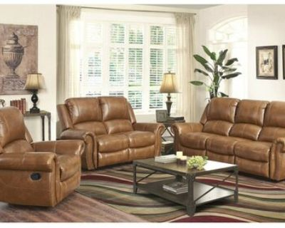 NEW - 3 Piece Manual Recliners - Brown