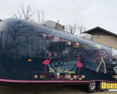 Beautifully Retrofitted 6.5' x 31' Vintage Airstream Mobile Marketing Trailer