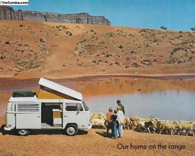 1970 Bus Westy Westfalia Sales Brochure Camper