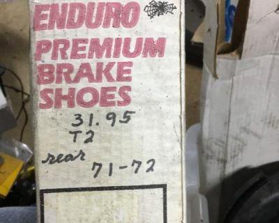 New 71-72 bus rear brake shoes