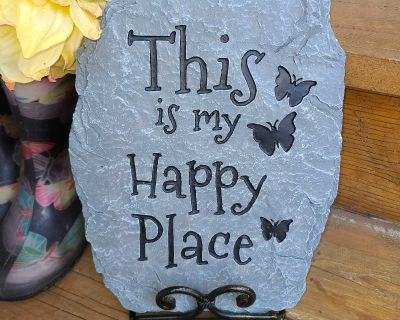 This is my happy place slate step/stone