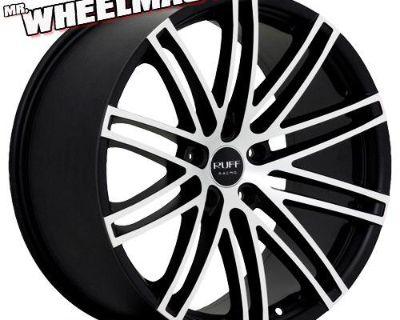 (4) 20 Inch Wheels/tires Ruff Racing 955 20x8.5 5x114.3 +38 Black/machine