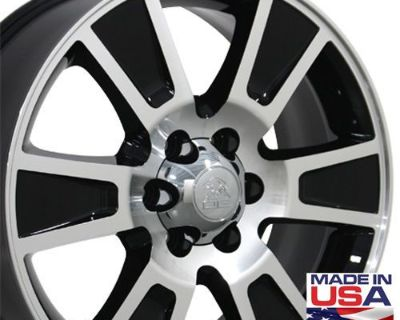 """One 20"""" Black F-150 Style Wheel Machined Face 20x8.5 Fits Ford Expedition B1w"""