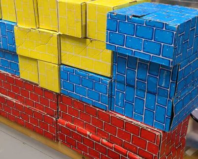 Cardboard building block brick toys