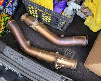 Weistec downpipes c43