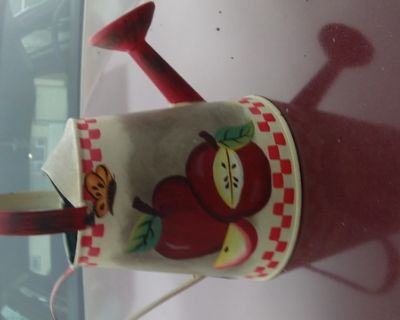 Minature Apple Tin Water Can