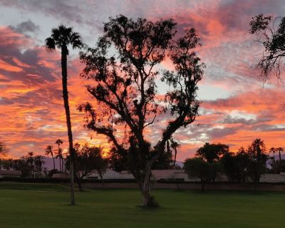Beautifully furnished 3bed 3bath end unit golf course view - Palm Desert