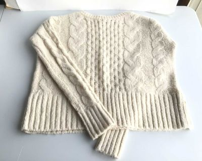 Cable Knit Sweater - Size S/P but Fits Like a M/M