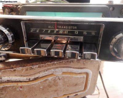 working 1967 sapphire V am 12 volt radio