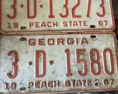 1967 GA vintage license plate
